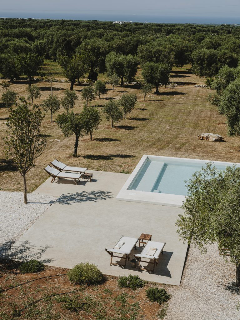 Masseria Moroseta swimming pool, Curated by Sisters